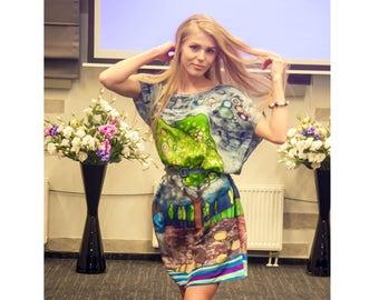 Women loose tunic - Loose tunic dress - Women loose dress - Oversized dress - Floral loose dress - Summer pregnancy dress - Pregnancy tunic