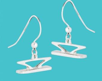 Cleat Earrings - Sterling Silver