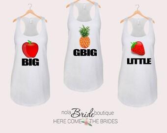 Big Little GBig GGBig Sorority tanks, sorority tank, Little Big, Greek shirt, Little sister, Big Sister, Big and Little shirts d50