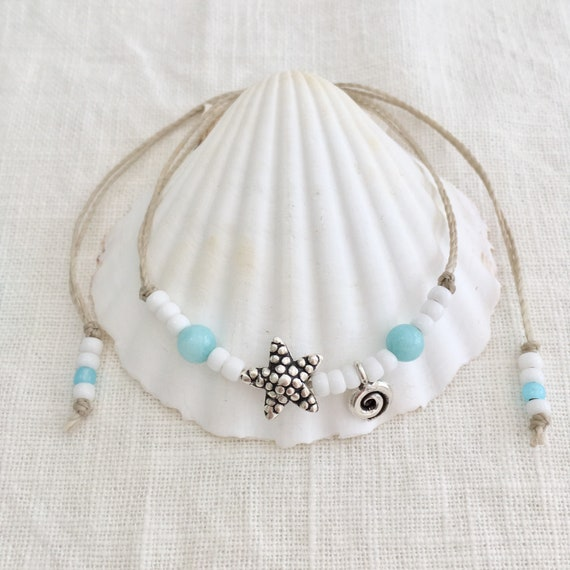 beach anklet, bohemian jewelry, gift for her