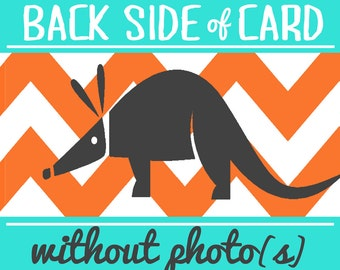 Back Side Design for CARDvark Cards, without Photo(s)