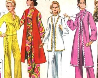 1970 Simpllicity 9071 pattern Women's Jumsuit with Short, Medium, Long Vest Size 10 Bust 32