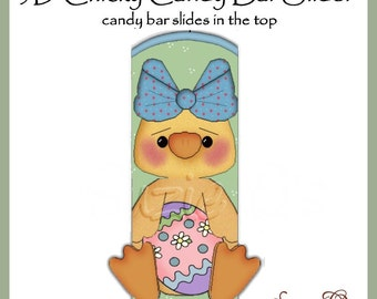 Girl Chicky Candy Bar Slider for Easter - Digital Printable - Immediate Download