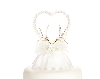 White Rose Hummingbird Cake Topper - 100754