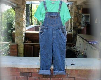CLEARANCE Vintage no boundaries Overalls  Denim Bibs  Juniors Size Medium (Women's Size Small)  Darkwash