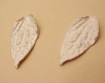clematis leaf castings, sterling silver leaf finding, solderable leaf component, silversmithing supplies UL037-2