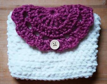 Crochet Case with a handmade doily