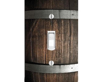 Wine Barrel Winery  Light Switch Cover, Printed, outlet covers, Double light switch, Bar Decor, Kitchen Decor, Bathroom Decor, Wall Decor