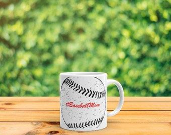 Baseball Mom Mug (Side Print)
