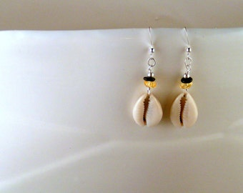 SALE - Cowrie Shell Earrings