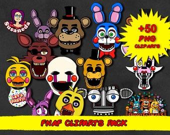 FNAF cliparts, Big Five Nights at Freddys Cliparts Pack, transparent background, high quality FNAF cliparts, instant download