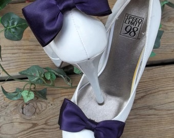 Bridal Shoe Clips, Wedding Shoe Clips, Satin Shoe Clips, Bridal Shoes Clips, Wedding Shoes Clips, Shoe Clips Only MANY COLORS, Gift for Her