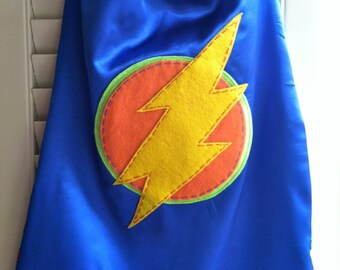 Superhero Cape-Perfect Christmas Gift-PERSONALIZE/CUSTOMIZE BLUE Boys Superhero Cape - Choose the Initial - Superhero Birthday Party