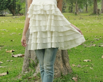 SALE 25 USD--B124--Cotton top with cute ruffles