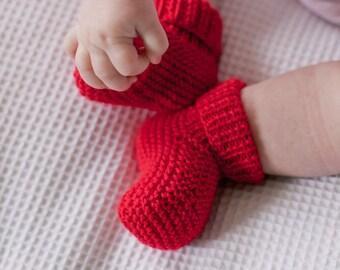 Ribbed Booties PDF Knitting Pattern