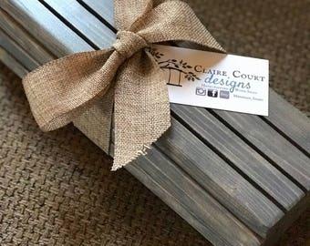 Qty 4- Wood Playing Card Holders - Handmade
