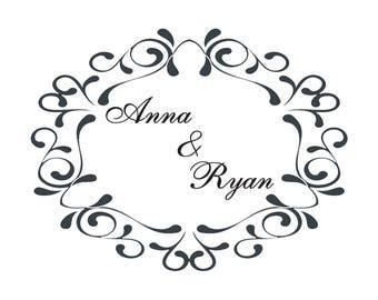 Custom Logo Design / Wedding Branding / Logo for Gobo Light Projection / Wedding Logo / Wedding Monogram
