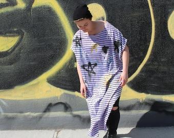 Oversized Grunge Star Smock Dress