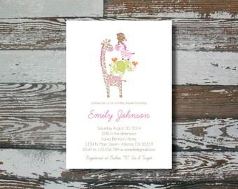 Jungle Jill Baby Shower Invitation - Simple - Printable