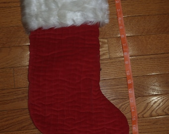 Red Christmas Stocking, Personalized Red Velvet Christmas Stocking, Christmas Stocking, Red Stocking
