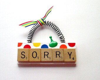 Sorry Scrabble Tile Ornament