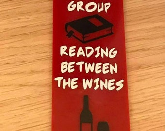 Acrylic Book Mark with wording -  Book Group xx