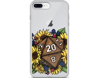 Sunflower D20 iPhone Case - D&D Tabletop Gaming