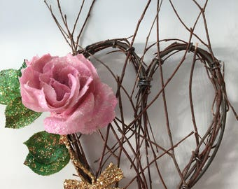 Shabby Chic Heart Shaped Wreath