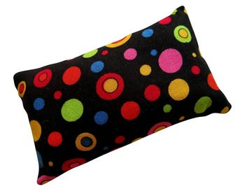 Colorful Polka Dots  Pincushion filled with Emery Sand