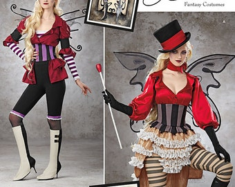 Simplicity Pattern 1301 Misses' Victorian Circus Costumes Steampunk Circus Costume Pattern Size 14, 16, 18, 20, and 22