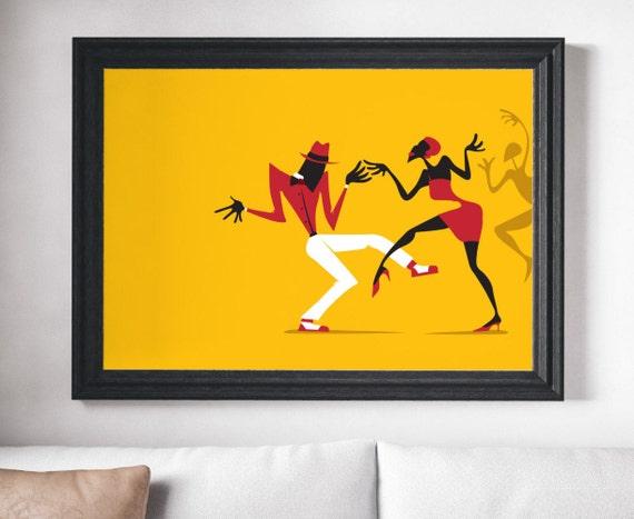 Music Poster Wall Art Salsa Art Music Print Wall Art