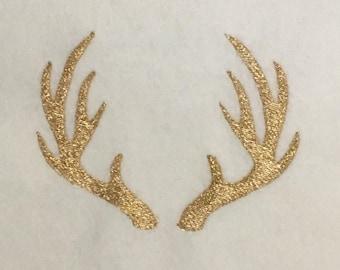 Deer Antlers Machine Embroidery