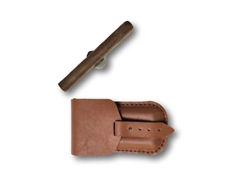 Cigar case/Leather cigar case/personalized gift/gift for him/gifts for dad/cigar accessories/men gift/cigar pouch/cigar gifts/robusto case