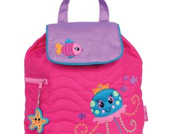 JELLYFISH Stephen Joseph  Quilted Backpack  ~ free personalization