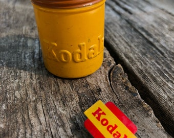 Vintage Kodak film canister and pin