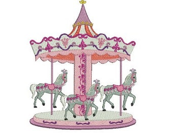instant download embroidery  carousel