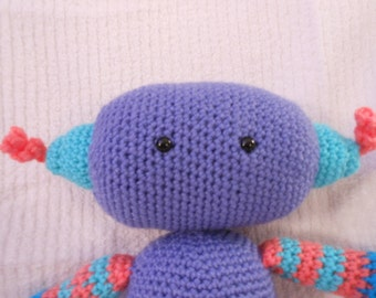Periwinkle the Crocheted Robot for Children