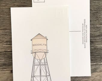 Brooklyn water tower postcard