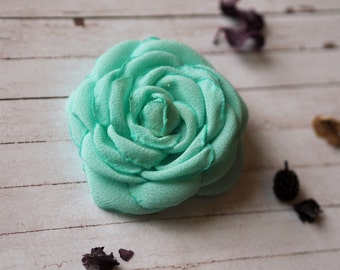 Bridesmaid Hair Piece, Green Bridal Hair Accessory, Green Hair Fascinator, Mint Green Hair Clip, Wedding Hair Flower,