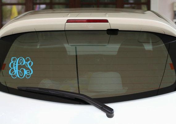 Vine Monogram Car Decal Vine Monogram Decal Car Decal Car Sticker Car Window Laptop Decal Preppy Vine Monogram
