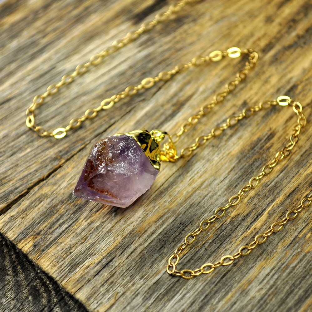 jules goldplated raw on orders bar slice overstock geode over pendant druzy amethyst necklace product free jewelry watches shipping mint