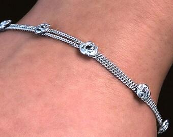 Roses, 925 sterling silver bracelet