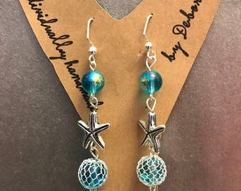 Handmade in Alaska Fishnet Earrings