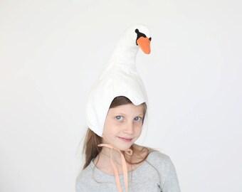 Swan hat, christmas gift, Playtime costumes, kids dress up, Beauty gift, Halloween costume children girl, Xmas gift, Clothing gift