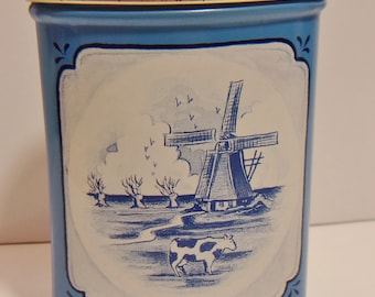 Roomboter Babbelaars Tin Dutch Windmill Scene Vintage Butterscotch Candy Kitchen Home Decor Boat
