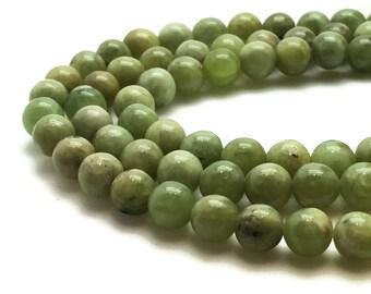 8mm Natural Peridot Beads 47 Beads Natural Peridot Bead 8mm Peridot Beads 8mm Green Beads 8mm Green Mala 8mm Peridot Gemstone Green Gemstone