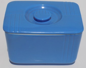 Vintage Hall China Refrigerator Dish for Westinghouse in Cornflower, Oxford Blue, Periwinkle, Covered Casserole, Leftover Dish