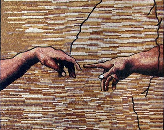 "Michelangelo ""Creation"" - Mosaic Art Reproduction"