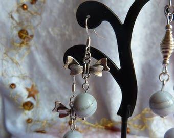 Genuine CHALCEDONY gemstone earrings