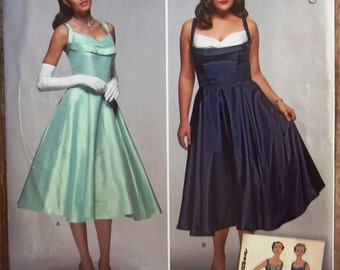 1950s Style Misses Dress Sizes 10 12 14 16 18 Simplicity Pattern S0857/1155 UNCUT (Sara's)